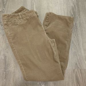 🎁 Chicos Pants 12 Brown Stretch Corduroy TR12